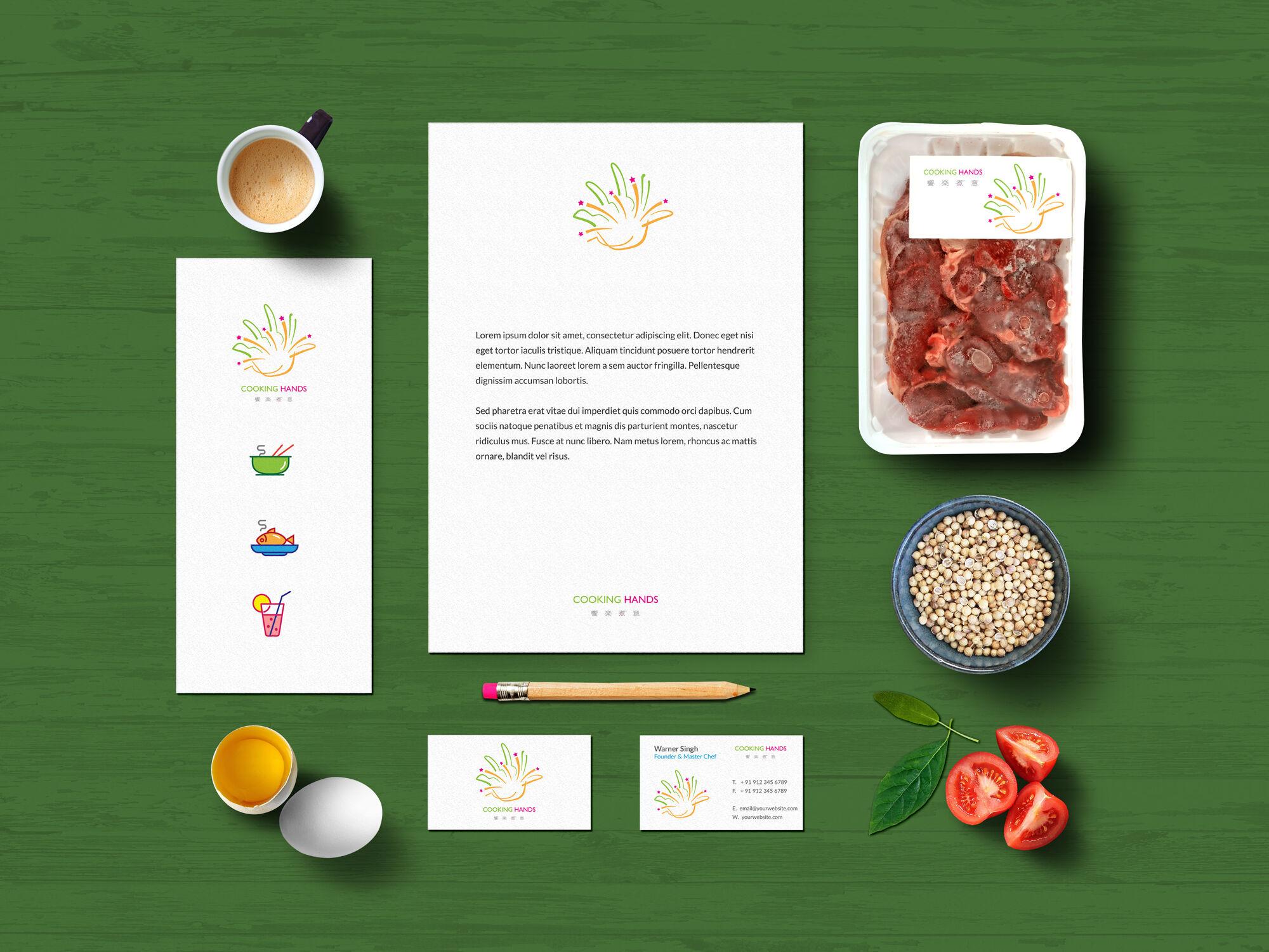 Cooking Hands Food Branding Mockup