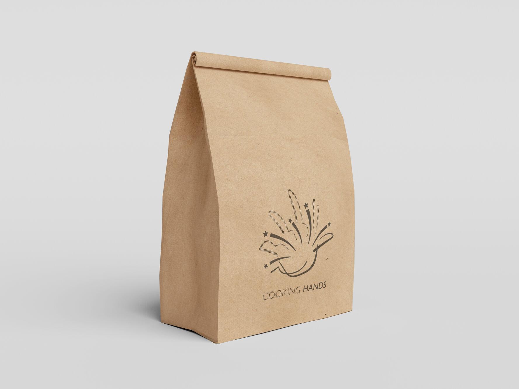 Cooking Hands Paper Bag