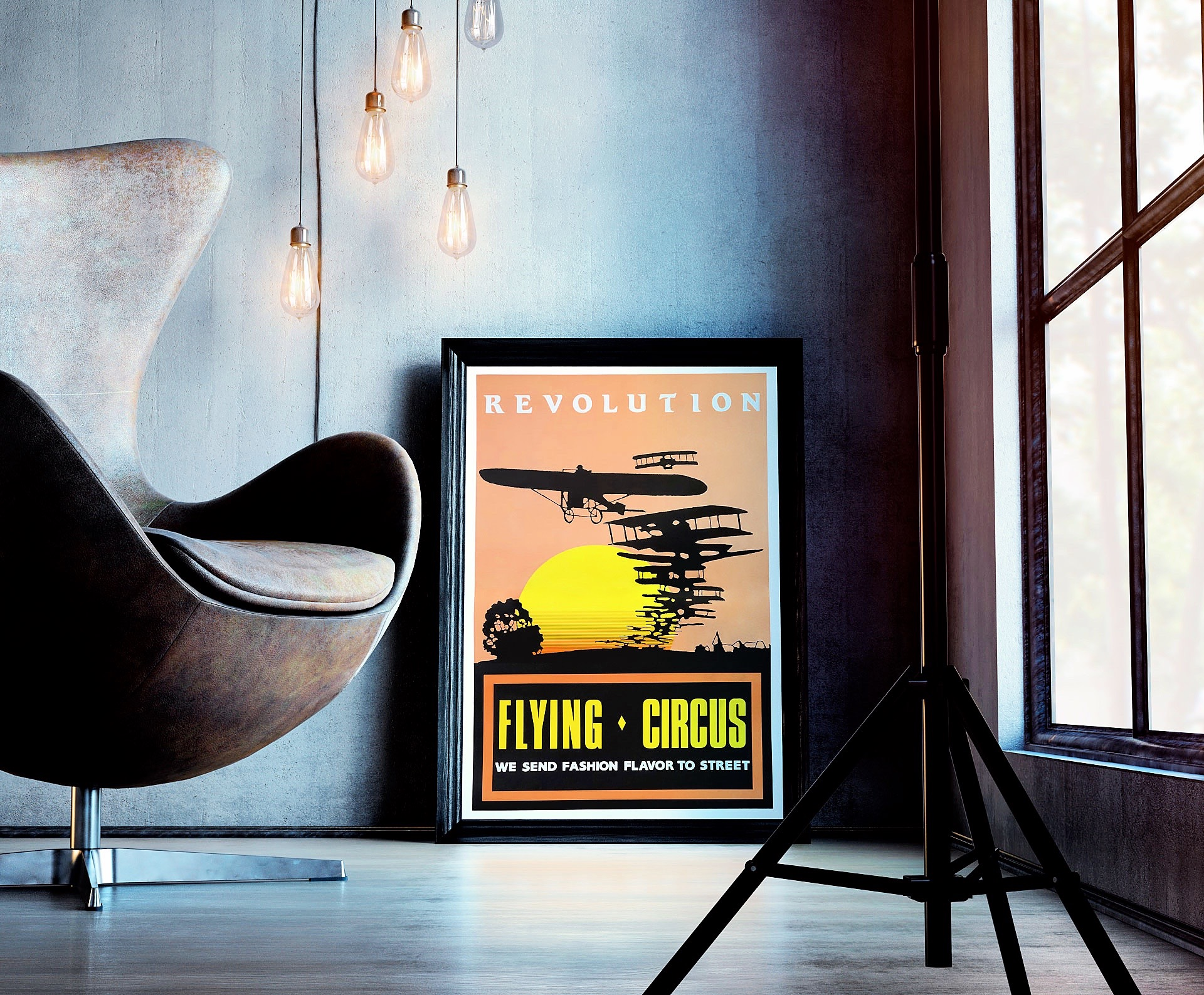 Flying Circus Poster 1987 Mock Up 01
