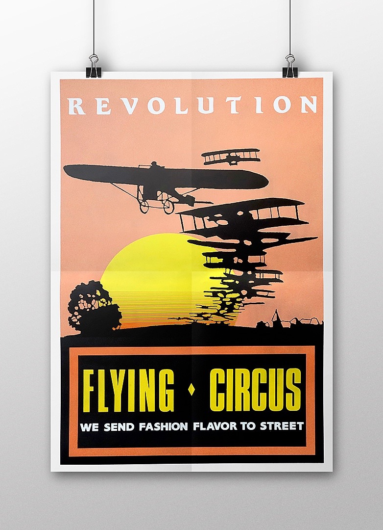 Flying Circus Poster 1987 Mock Up 04