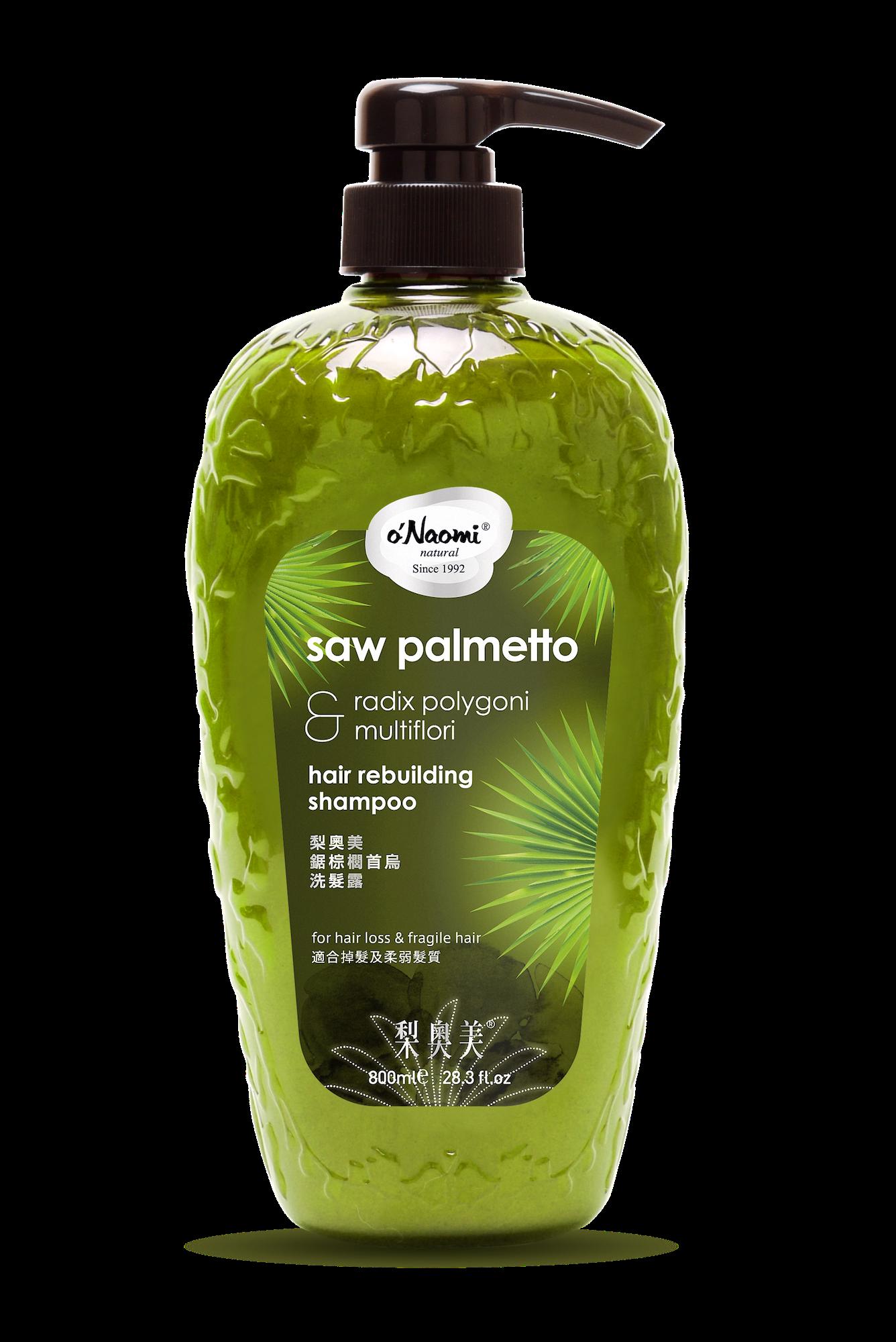 Onaomi Saw Palmetto Radix Shampoo Mockup