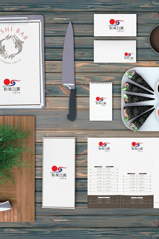 Sunnyshine Creative Sushi Bar Menu Mockup Perfectlyclear