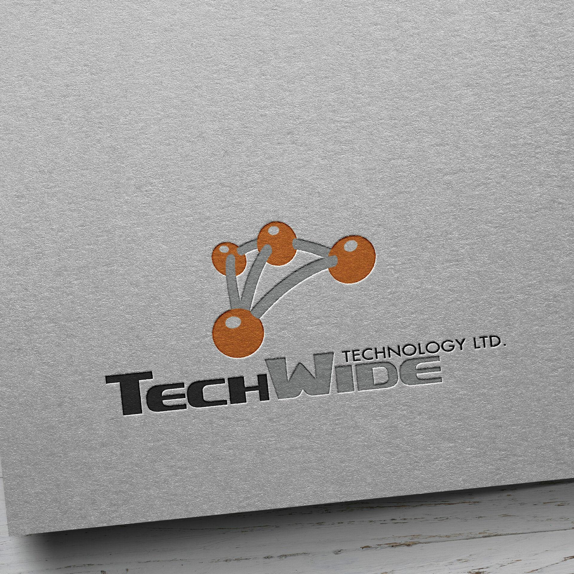Techwide Kraft Paper Logo Mockup