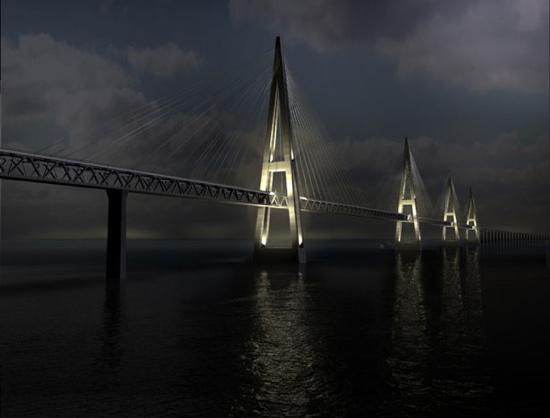 Fehmarn Belt Bridge (Hamburg, Germany to Copenhagen, Denmark)
